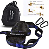 Geezo Hammock Straps, 40 Loops Combined with Two Extra Long 10ft XL Hammock Straps Heavy Duty Triple Stitched Non…