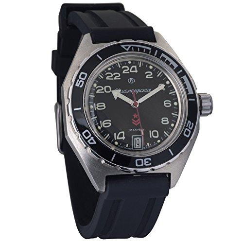 Vostok Komandirskie Automatic 24 Hour Dial Russian Military Wristwatch WR 200m ()