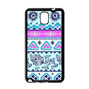 Fayruz- Black Sides Hard TPU Back Case Cover Skin For Samsung Galaxy Note 3 III N9000 - Aztec Tribal Pattern