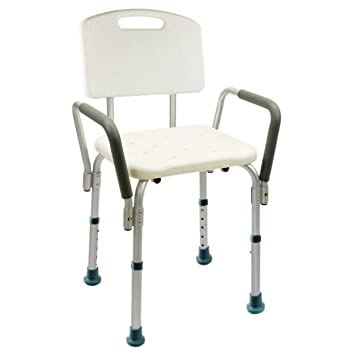 shower chair-Silla Ducha Aluminio Ayuda Baño Taburete Banqueta Regulable Ajustable WC Asiento