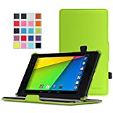 MoKo Google Nexus 7 2013 FHD 2nd Gen Case - Slim-Fit Multi-angle Stand Cover Case with Auto Wake / Sleep for Google Nexus 2 7.0 Inch 2013 Generation Android 4.3 Tablet, GREEN