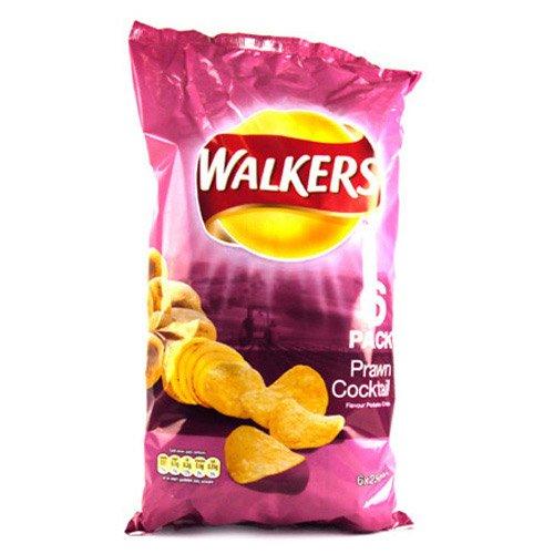 Walkers Prawn Cocktail Crisps 25g x 6 per pack