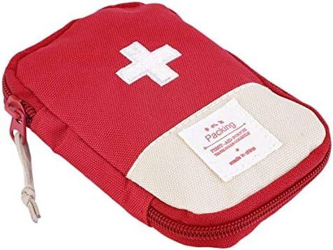 Paperllong® Langlebiges Outdoor-Camping Home Survival Tragbares, markantes Kreuzsymbol Erste-Hilfe-Kit Taschenetui Tragbarer, bequemer Griff