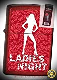 3886 Ladies Night Candy red Lighter with Flint Pack - Premium Lighter Fluid (Comes Unfilled) - Made in USA!