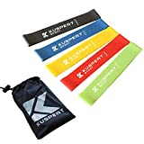 Kuspert Resistance Loop Exercise Bands Set of 5 with Instruction Guide Carry Bag eBook
