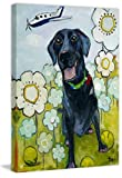 Marmont Hill Happy Girl by Tori Campisi Painting Print on Wrapped Canvas, 20''x30''