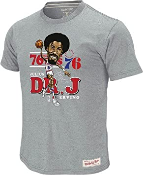 Julius Erving Philadelphia 76ers Mitchell & Ness Caricature Premium T-shirt camisa