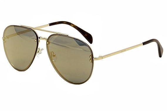 golden aviator sunglasses  Amazon.com: Celine Mirror CL 41391 J5G MV Gold Metal Aviator ...