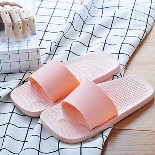 Sandales DIDIDD Unie Rose D'Été de Simples de Bain Couleur Pantoufles 37 36 rwqzx8Ir