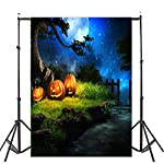 Photography Background, Elevin(TM) Halloween Backdrops Pumpkin Vinyl 5x3FT Lantern Background Photography Studio