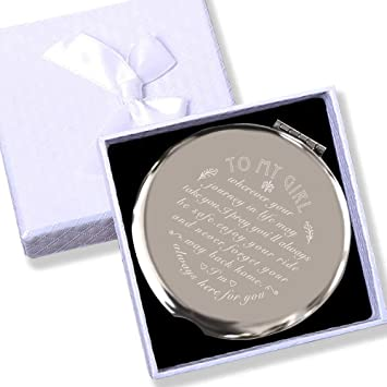 Amazon Com Daughter Birthday Gifts Girlfriend Birthday Gift My Girl Gifts Daughter Gifts From Mom And Dad Granddaughter Gifts For He Makeup Mirror 2 6 Silver Office Products