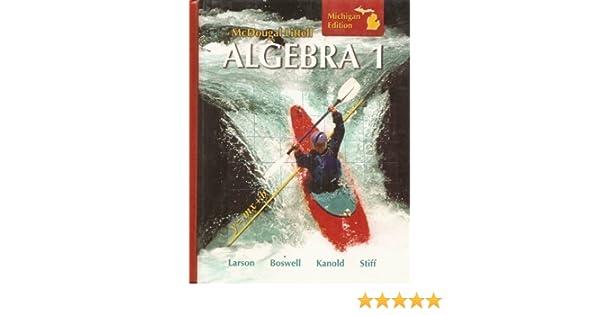 McDougal Littell Algebra 1 Student Edition 2008