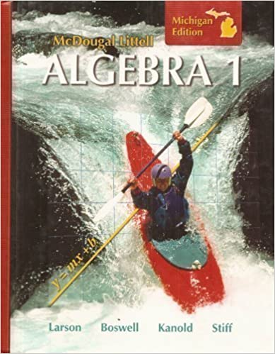 Amazon mcdougal littell algebra 1 michigan edition mcdougal littell algebra 1 michigan edition fandeluxe Image collections
