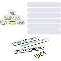 Outgeek 77PCS Slap Bracelet Creative Practical DIY Blank Multipurpose Slap Band for Kids