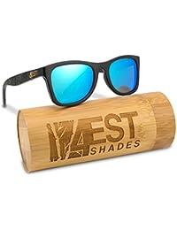 Madera de Bambú–Gafas de sol polarizadas hecho a mano Shades de madera en un Wayfarer Que Flota.