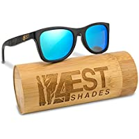 2901f722bc Bamboo Wood Sunglasses - Polarized handmade wooden shades in a wayfarer  that Floats!