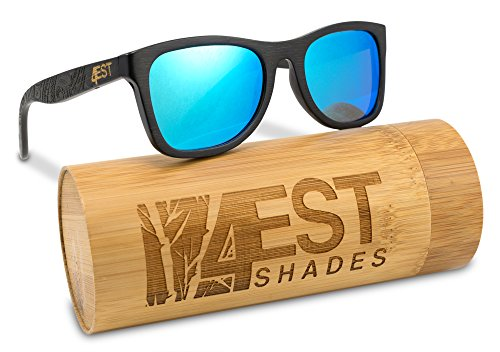 Bamboo Wood Sunglasses Polarized handmade wooden shades in a wayfarer that Floats!