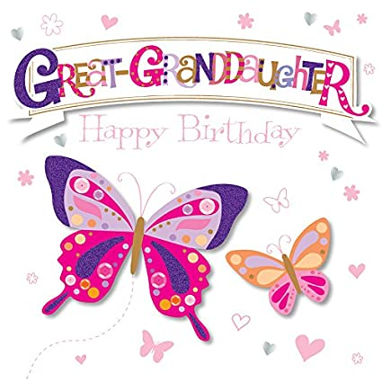 Amazon Great Granddaughter Happy Birthday Greeting Card By Talking Pictures Cards Office Products