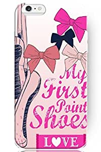 SPRAWL Dance 4.7 Inch IPhone 6 Case Hard Plastic Shell Personalized --Cartoon Ballet Pointe Shoes and Bowknot