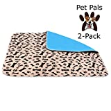 Pet-Pals 2-Pack Large Washable Reusable Waterproof Fast Absorbing Dog and Puppy Pee and Training Pads for Housebreaking, Travel, Incontinence. Review