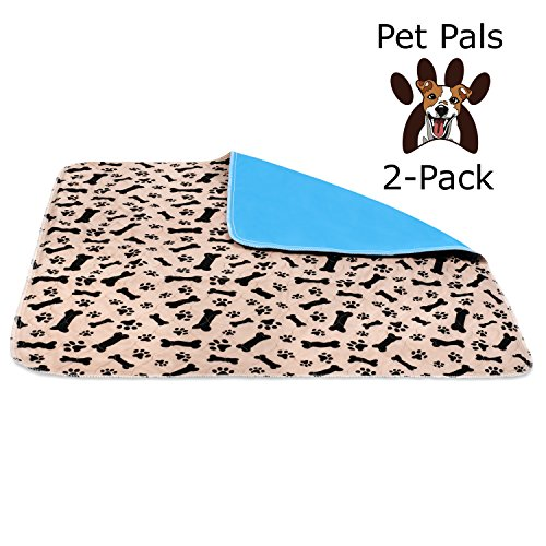 Pals Pen Small (Pet-Pals 2-Pack Large Washable Reusable Waterproof Fast Absorbing Dog and Puppy Pee and Training Pads for Housebreaking, Travel, Incontinence.)