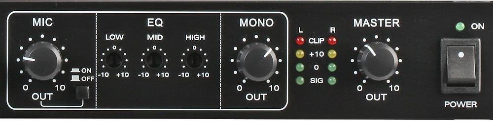 "19/"" Rack Mount 1u Pulse RMX112 12 Channel Mic//Line Installation PA Audio Mixer"