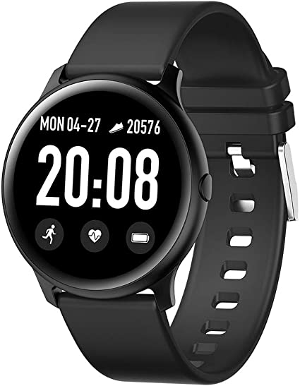 RUNDOING Smart Watch for Android Phones, 1.3 Inch Color Screen Fitness Tracker Activity Tracker, Heart Rate Monitor Fitness Watch,Compatible with iOS ...