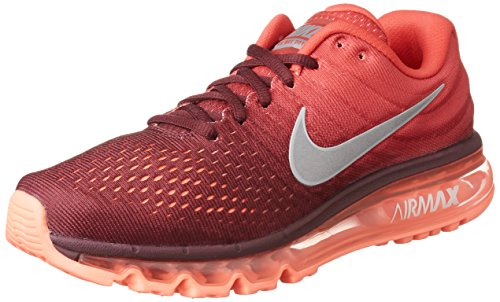 Nike Men's Air Max 2017 Maroon/White/Gym Red Nylon Running Shoes 10.5 M US