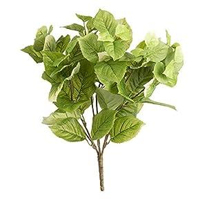 Darice Hydrangea Leaf Bush: Green, 14 x 20 inches, 77 tips 117