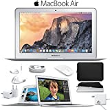 6Ave Apple 11.6'' MacBook Air Notebook Computer (Early 2015) + Padded Case For Macbook + Slim Optical Wireless Bluetooth Mouse Bundle