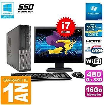 Dell PC 3010 DT Core I7-2600 RAM 16GB Disco Duro 480 GB SSD WiFi ...