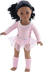 Emily Rose 18 Inch Doll Champion Ballet Skater Outfit | Fits American Girl Doll | Skating Ballet Warm-up