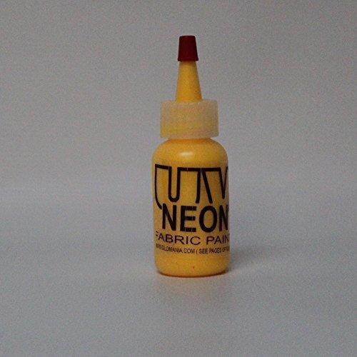 Yellow UV Reactive Fabric Material Paint 2oz ()