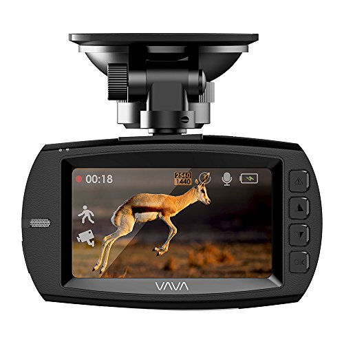 VAVA Dash Cam VA-CD007 Ambarella A12 Processorfor 1440P 30fps / 1080P 60fps Footage, F1.8 Aperture 178 Degrees Wide Angle Lens