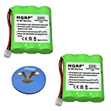 HQRP 2-Pack Phone Battery for Casio 1350/3201010 / 3201012/3201014 / CP-1260 / CP-1275 / CP-1475 / CP2070 / CP2575 / CP280 / CP-720 / CP-725 / CP749 / CP-750 Cordless Telephone + HQRP Coaster