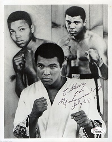 Muhammad Ali REAL hand SIGNED 8x10 1981 vintage photo JSA full LOA (Real Signed Autograph)