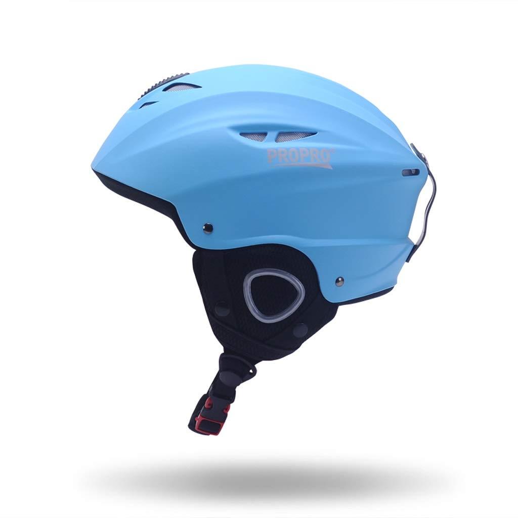 思春期のスキー用ヘルメット男女兼用スキー屋外用具ヘッド安全ヘルメット54-58 cm 保護 (Color : 青, Size : S)