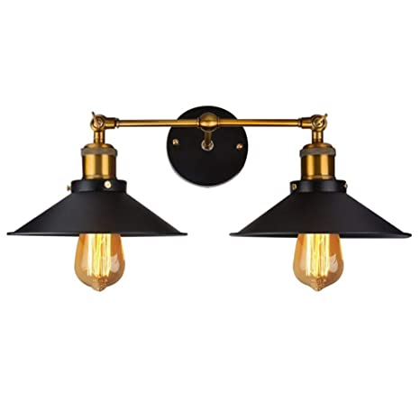 Lamp Covers & Shades Beautiful Iron Vintage Retro Industrial Loft Rustic Wall Sconce Light Lamp Fixture Classic Making Things Convenient For The People Lights & Lighting