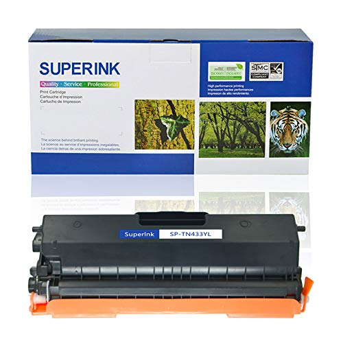 SuperInk High Yield Compatible Toner Cartridge Replacement for Brother TN433 TN-433 TN433Y use in HL-L8260CDW HL-L8360CDW HL-L8360CDWT MFC-L8610CDW MFC-L8900CDW Printer (1 Pack, Yellow) -  ZJTN433YL1PK/CA123