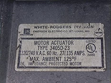 White Rogers 3405D-23 Motor Actuator 120/240VAC 60Hz  27- 135A