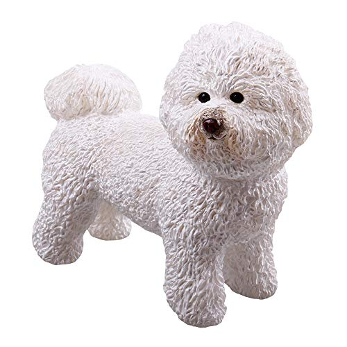 - RECUR Bichon Frise Pet Dog Figure Toy, Collectible White Dog Figure 5.3inch ,1:3 Scale Realistic Stuffed Animal Toy Design Replica, Hand-Painted Skin Texture, Ideal for Collectors & Girl Kids, Ages 3+