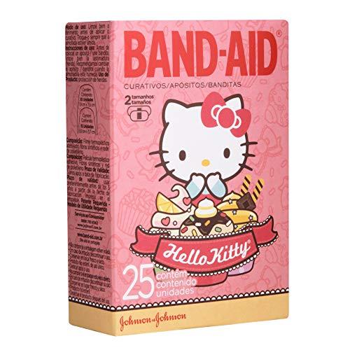 Curativos Adesivos Hello Kitty, Band-Aid, 25 Unidades