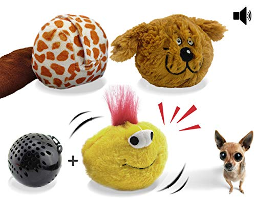 (Interactive Plush Squeaky Dog Toys, Electronic Motion Pet Toy, Crazy Bouncer for Prevent Boredom)
