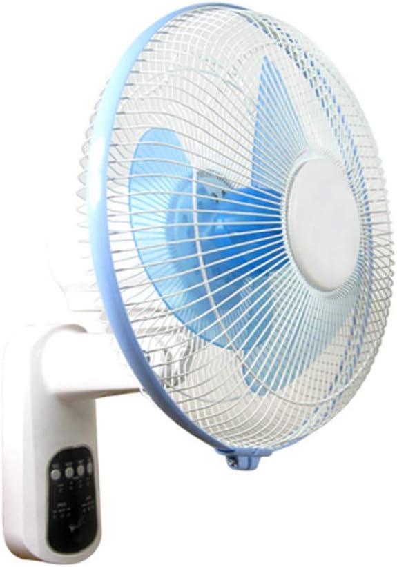 Wall fan Ventilador montado en la Pared con Control Remoto Inteligente, Ventilador portátil de Pared para el hogar, Ventilador Ajustable con Cabezal de Sacudida de Velocidad del Viento
