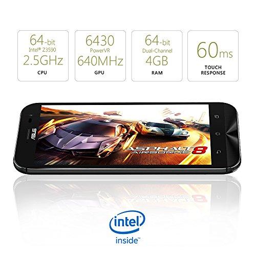ASUS ZenFone Zoom Unlocked Cellphone, 64GB, Black (U.S. Warranty)