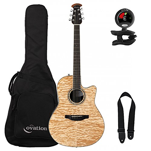 Ovation Celebrity Standard Plus CS24P-4Q Natural Quilt Maple with Gig Bag and Accessory Pack