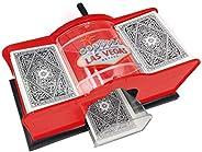 Manual Card Shuffler - 2 Decks Hand Cranked Mixing Machine to Shuffle Playing Cards Mixer Sorter for Poker, Ru