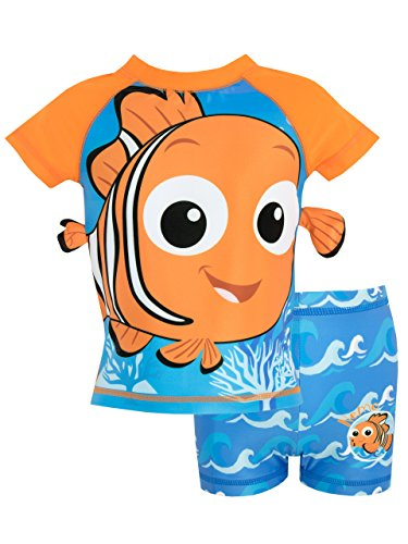 Disney Boys' Finding Nemo Two Piece Swim Set Size 4 -