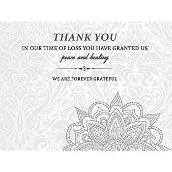 Amazon Com Funeral Memorial Service Thank You Cards Envelopes