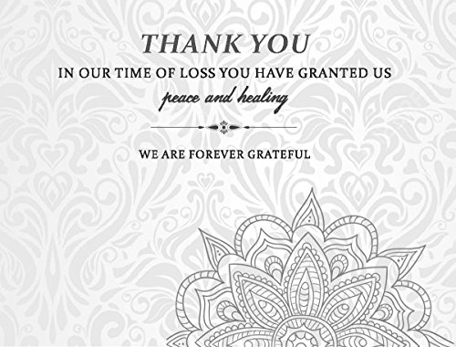 Celebration of life Funeral thank you cards with envelopes Sympathy Condolence acknowledgement Thank you Cards (White) - Celebration Envelopes